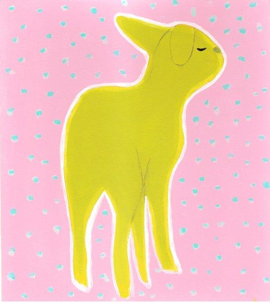 Little Lamb Standing Art Print