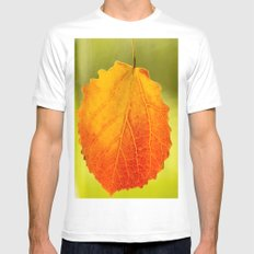 Colorful Autumn Leaf Mens Fitted Tee White SMALL