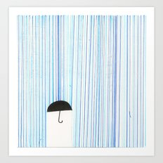 Mr. Invisible Doesn't Like Rain... Art Print