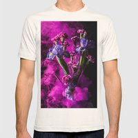 Purple Floral Smoke Bouq… Mens Fitted Tee Natural SMALL