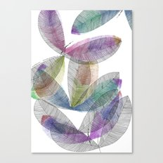 Magical Colored Leaves Canvas Print