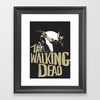 The Walking Dead Framed Art Print