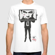 TV IS KILLING US Mens Fitted Tee SMALL White