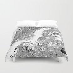 New York Map Duvet Cover
