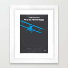 No535 My North by Northwest minimal movie poster Framed Art Print