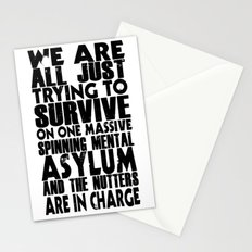 We are all just trying to Survive... Stationery Cards