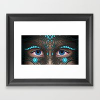 Halloween Mask - Paintin… Framed Art Print