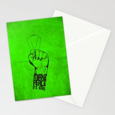Make peace... Stationery Cards
