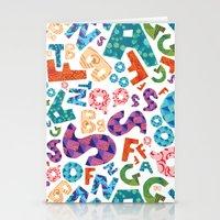 alphabet Stationery Cards featuring Alphabet by Gabriela Nicole Gonzalez
