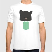 Mr. Pussy Gato Mens Fitted Tee White SMALL