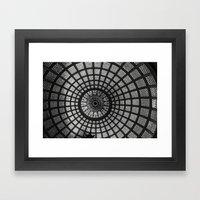 Tiffany Glass Dome Black… Framed Art Print