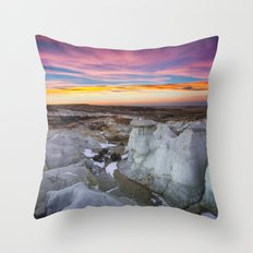 The Painted Mines Throw Pillow