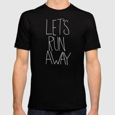Let's Run Away by Laura Ruth and Leah Flores  Black SMALL Mens Fitted Tee