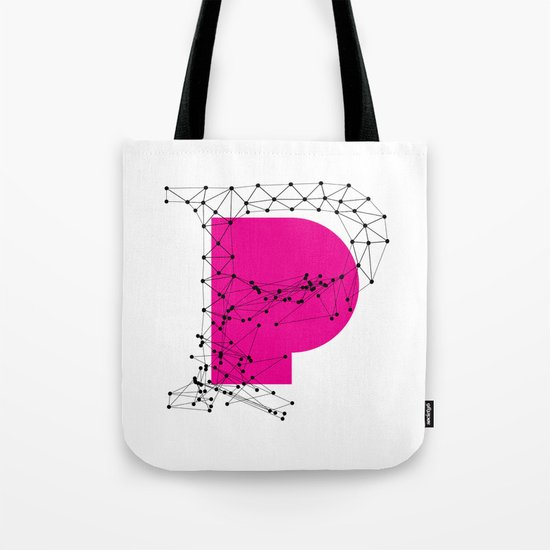 P (abstract geometrical type) Tote Bag