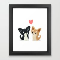 Chihuahua Love - Cute Do… Framed Art Print