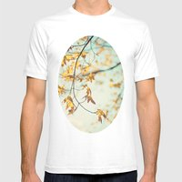 Autumn Glow Mens Fitted Tee White SMALL