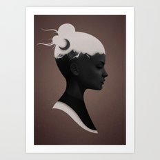 She Just Art Print