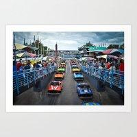 Tomorrowland Speedway Art Print