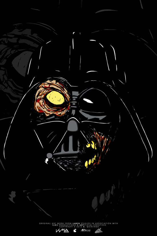 Darth Vader Zombie Art Print