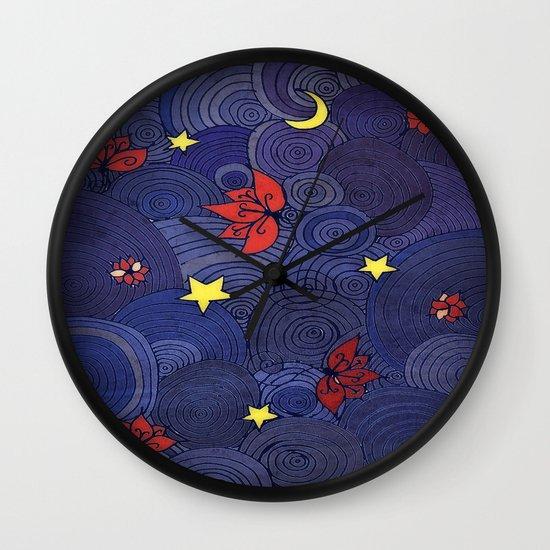 Lotus Sky Wall Clock
