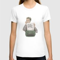 Virginia Woolf Quote Womens Fitted Tee White SMALL