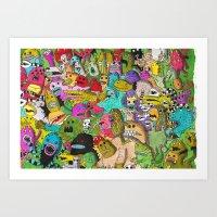Monster Party Art Print