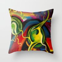 Digital Brain Scan Throw Pillow