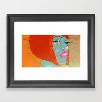 Party Girl Framed Art Print