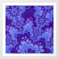 Purple Fractal art Art Print