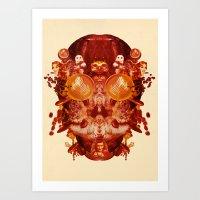 Coffee & Owls & Death Art Print