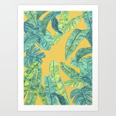 orange tropical daze Art Print