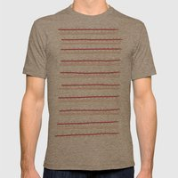 Stripes and Spots Mens Fitted Tee Tri-Coffee SMALL