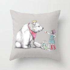 Teddy Bear's Picnic Throw Pillow