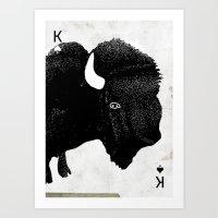 THE KING OF PRAIRIE Art Print