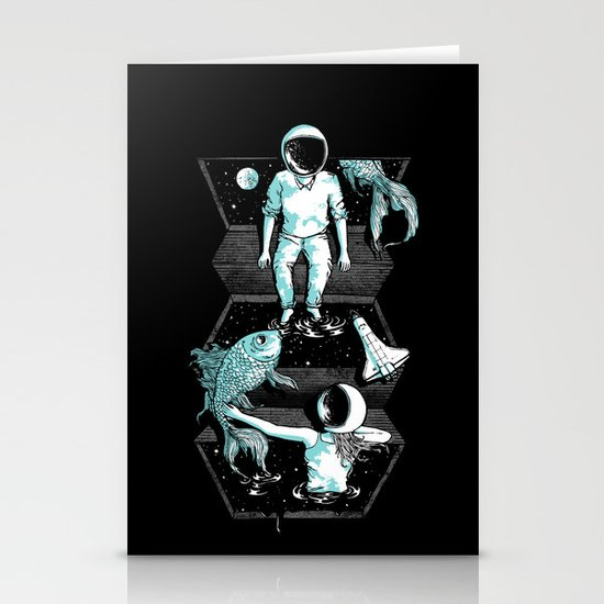 Space Between Stationery Card