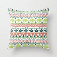 Aztec Stripe Throw Pillow