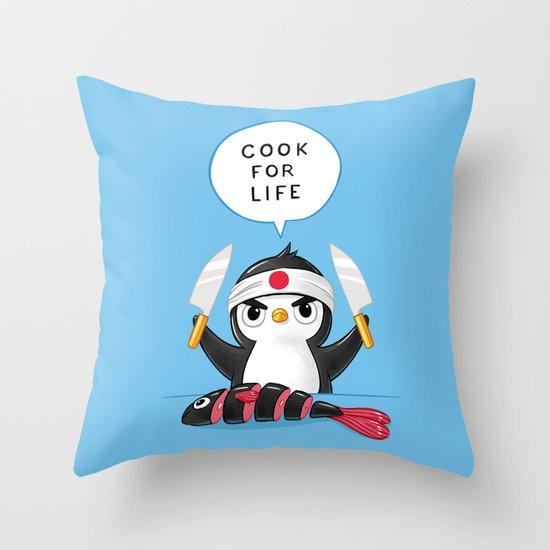 Penguin Chef Throw Pillow