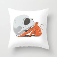 Skull House - Gold Tooth Throw Pillow