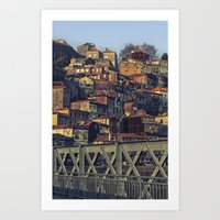 Porto From The Bridge. Art Print