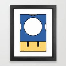 MY MINI MUSHROOM MARIO BROS MINIMAL POSTER  Framed Art Print