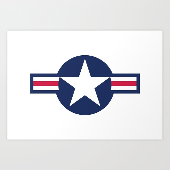 Air force plane symbol high quality image art print by for Decor 6 air force