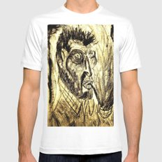 Vincent SMALL White Mens Fitted Tee