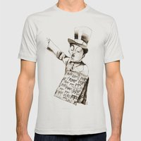 the POPO' paperboy Mens Fitted Tee Silver SMALL