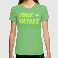 Force Of Nature X Cloud … Womens Fitted Tee Grass SMALL
