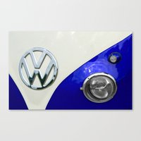 VW Split Screen Navy Canvas Print
