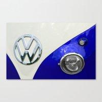 VW Split Screen Navy Canvas Print