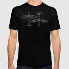 Spitfire Mk. XIV (white) Mens Fitted Tee Black SMALL