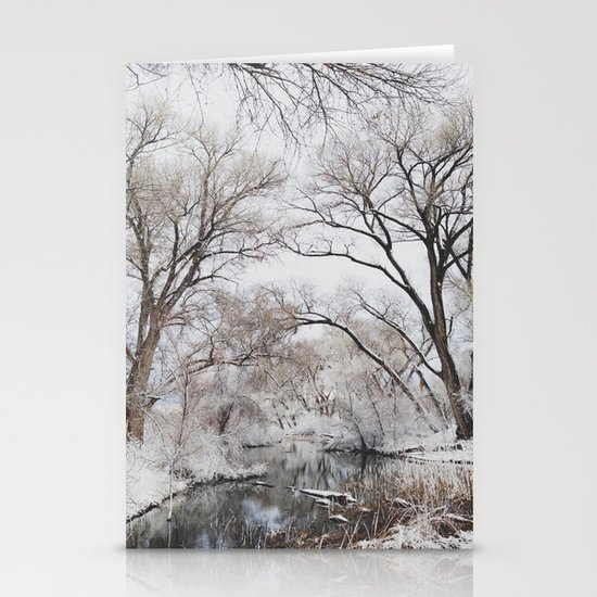 Winter Creek Canopy Stationery Card