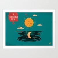 :::A Half-Finished Dream… Art Print