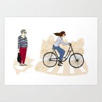 Street Stripes Art Print